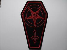 COFFIN BAPHOMET red   EMBROIDERED PATCH