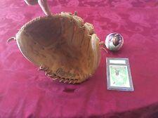 Derek Jeter baseball,glove and rookie card graded near mint/ mint
