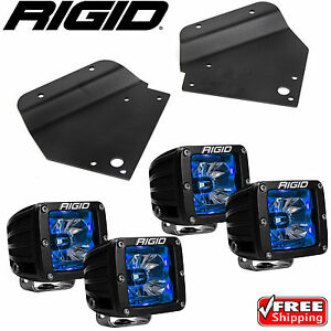 Rigid Radiance LED Fog Light w/ Blue Backlight for 10-14 Ford F150 Raptor SVT