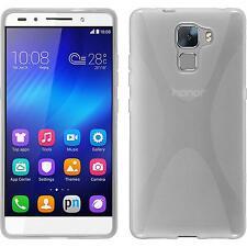 Funda de silicona Huawei Honor 7 X-Style - transparente + protector de pantalla