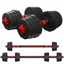 FITNESS 30KG DUMBELLS PAIR OF WEIGHTS BARBELL/DUMBBELL BODY BUILDING SET Pro