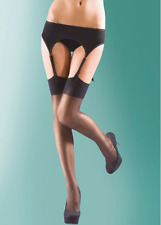 SHEER SHINE STOCKINGS 15 DENIER SILKY BY LEGWEAR INCLUDING LACE TOP NEW