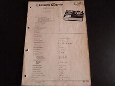 Original service manual PHILIPS magnétophone EL 3552
