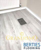 LVT Click Vinyl White Flooring - Rigid Click System - Embossed Water Resistance