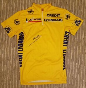 Official Castelli 1980s Tour de France Yellow Jersey - Signed by Sean Yates