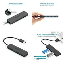 Anker Ultra Slim 4-Port USB 3.0 Data Hub, Portable, for Mac, PC and Flash Drives