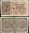 Buono di Cassa da 2 Lire 21/9/1914 Dell'Ara - Righetti BB