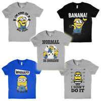 Official Minions Movie Poster Dave Despicable Me Cartoon Kids Boys T-shirt