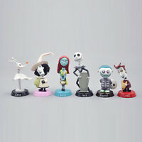 Jack Skellington:Nightmare Before Christmas 6 PCS Cake Topper Gift Figures Toys