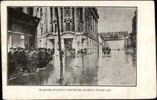 Pittsburgh PA 1907 Flood Scene Wabash Station - Postcard