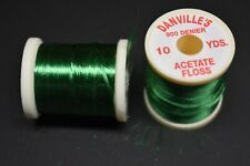 1 Spool, # 62  KELLY GREEN  Danville's Acetate Floss, 900 Denier, 10 yards