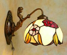 Tiffany Wandlampe Meerjungfrau Galionsfigur Figur Tiffanylampe Rose Lampe TE12-a