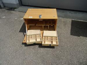 Werkzeugkasten Montagekiste Holzbox Werkzeugkiste Schreiner 75x47/50x88