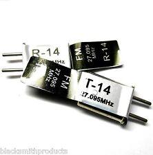RC Remote Control 27 MHZ 27.095 FM Crystal Tx & Rx Pair CH 2