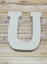 Large Wooden Alphabet Wall Hanging Wedding Party Home Decoration Letter U White
