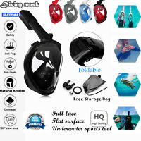 Adults kids seaview Full Face Snorkel Mask divling Mask respire Pipe for Gopro