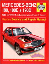 SHOP MANUAL MERCEDES 190 SERVICE REPAIR BOOK 190E 190D HAYNES 2.3 2.6 2.0 2.5