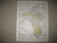 ANTIQUE 1902 COUNTY ROSCOMMON MAP RAILROAD DETAILED RARE NR