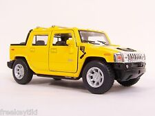 YELLOW 2005 HUMMER H2 SUT Car TRUCK SUV Vehicle Diecast Model 1/40 Pull Back 4X4
