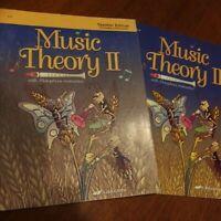 Abeka: Music Theory II Teacher & Student Lot (Grades 4-5) 1st Edition: FREE SHIP