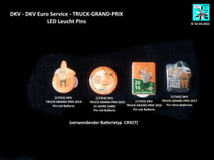 DKV (DKV Euro Service) TRUCK-GRAND-PRIX  LED Leucht/Blink Pins ...AUSSUCHEN