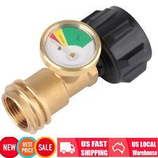 Propane Tank Gauge Gas Grill Pressure Indicator Fuel Heater Brass Bbq Golden Us