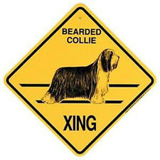 """Bearded Collie Xing Sign Dog Crossing New 10-3/4"""" x 10-3/4"""""""