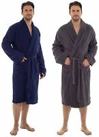 Mens Gents Luxury 100% Cotton Towelling Bath Robe Dressing Gown Wrap