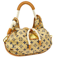 AUTH LOUIS VUITTON BULLE MM SHOULDER BAG BEIGE M40236 CRUISE LINE 2010 S09005
