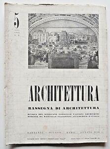 Architettura Rivista sindacato fascista n. 5 1942 Piacentini Cesare Cattaneo