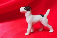 Antique porcelain Sweet German wire Fox terrier Jack Russell Parsons dog Germany