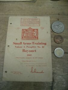 WW2 B@yonet fighting training manual, British Army manual