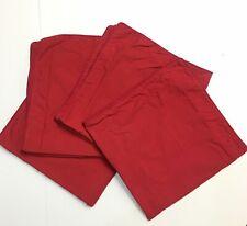 Crate & Barrel Bedding Set of 4 Serena Paisley Red Euro Pillow Sham 26x26 Cotton