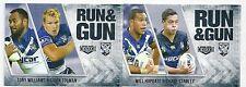 2016 NRL Elite Run & Gun (RG 5 / 32) (RG 6 / 32) Bulldogs Set (2 Cards)