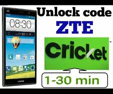 Unlock Code Cricket ZTE Z983 Z988 Z852 Z832 Z987 Z787 Z959 Z956 Z815 Z813 Z740g