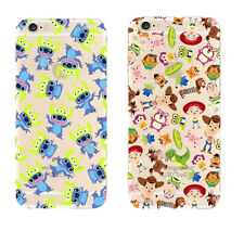 For iPhone Cartoon Disney Stitch Toy Story Rubberized Mobile Phone Case Cover
