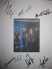 Shadowhunters Mortal Instruments Signed TV Script Katherine McNamara Sherwood rp