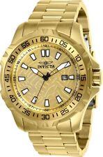 Invicta Men's Watch Pro Diver Gold Tone Dial Yellow Gold Steel Bracelet 25786