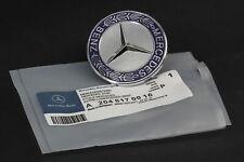 FOR Mercedes-Benz Blue Star Flat Hood Bonnet Logo Emblem Badge C300 C63 57mm