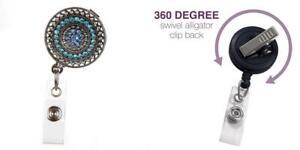 ID Avenue Razzle Dazzle Teal Fashion Badge Reel