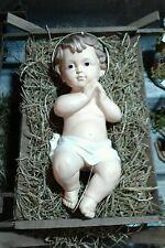 Bambino Gesù resina culla 33 cm MINIATURA PRESEPE shereped S.GREGORIO jesus crib