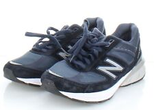 21-79 $175 Men's Sz 10 D NEW Balance 990v5 Suede & Mesh Running Shoe In Navy