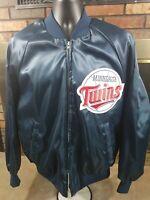 Vintage Minnesota Twins MLB Baseball Satin Full Zip Jacket Mens Large King Louie