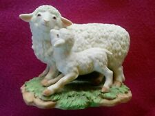 Vtg Porcelain Figurine by Homco Sheep & Baby Lamb Figure #1483 Home Interior