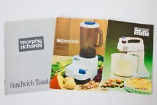 Collection of 3 vintage Kitchen Appliance Manuals, Kenwood, Morphy Richards
