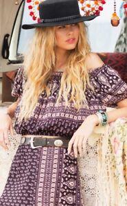 Spell Designs Ladies Boho Gypsiana Crop Top -Size Xs 🍃🌺🍃