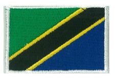Écusson patche patch transfert drapeau TANZANIE petit 45 x 30 mm brodé
