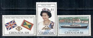GRENADA 1323-25 SG1445-47 MNH 1985 Royal Visit set of 3 Cat$6