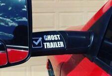Dodge Decal (2) Ghost Trailer Mirror Sticker 4x4 Diesel Truck Tow Mirror