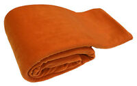 Orange Luxury Warm Soft Large 180cm x 254cm Fleece Sofa Couch Bed Blanket Throw